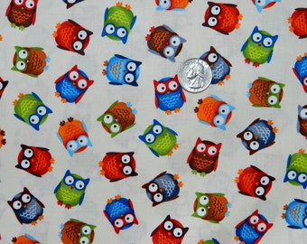 Woodland Forest Friends Mini Owls - Fabric by the Yard