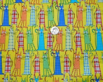 Patterned Cats - Fabric By The Yard