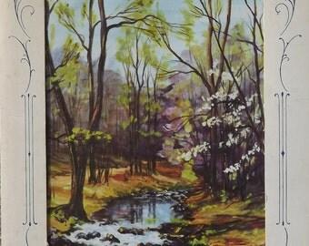 Nature Prints Vintage Portfolio Set of Four Seasons From Ideals Publishing Co.