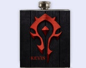 Warcraft Flask,  World of Warcraft Personalized Custom Flask,