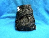 Stars on Black All In One or All In Two or Pocket One Size Diaper