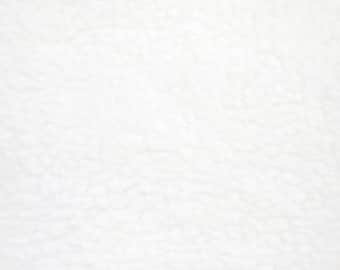 White Solid Classic Fleece Fabric, 60 Inches Wide and Sold By The Yard