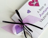 Valentine Coupon Book - Kid's Skull & Crossbones Awesome Valentine Coupon Book for Girls
