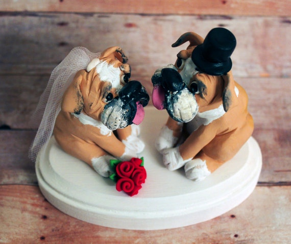 wedding cake topper with dog uk bulldog cake toppers personalized wedding by 26661