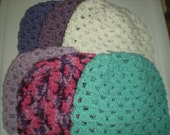 Wholesale Set of 6 Granny Square Teen/Adult Beanies
