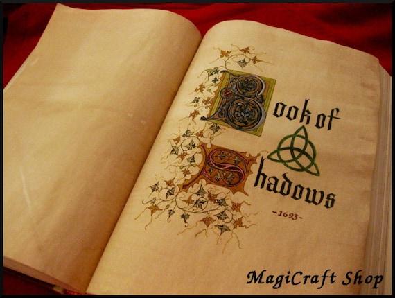 book of shadows charmed replica with original by magicraftshop