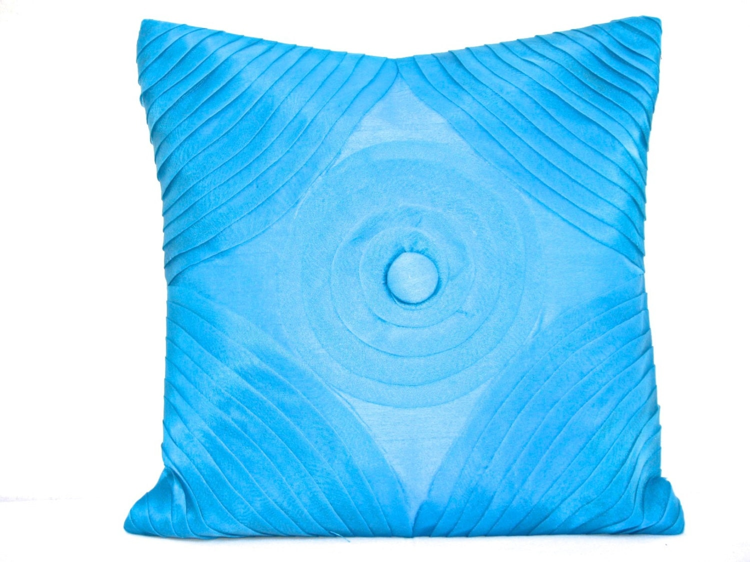 Turquoise Pillow Blue Throw Pillow Blue Pillow Cover Blue