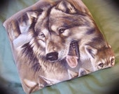80s/90s Wolf Family Tan Sweatshirt L