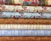 Airmail 1930's by Karen Roti for  Clothworks- Fat Quarter Bundle