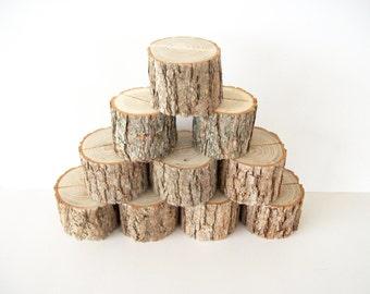 10 Sassafras Natural Wood Place Card Holder Rustic Wedding Table Decor Table Number Holder