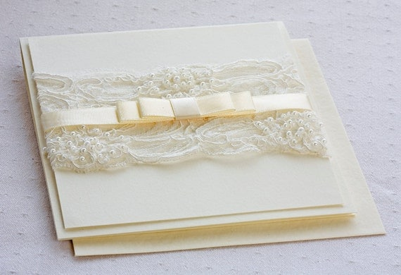 Wedding Invitations Lace And Pearl: Unavailable Listing On Etsy