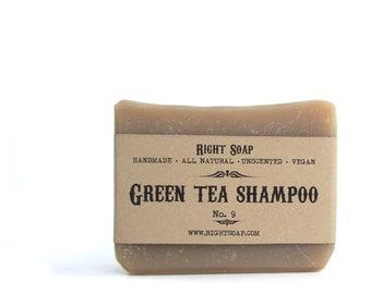 Shampoo Soap bar, Green Tea shampoo Soap, Handmade soap, natural shampoo Soap, All Natural Soap, Stocking Stuffers, Hostess Gift