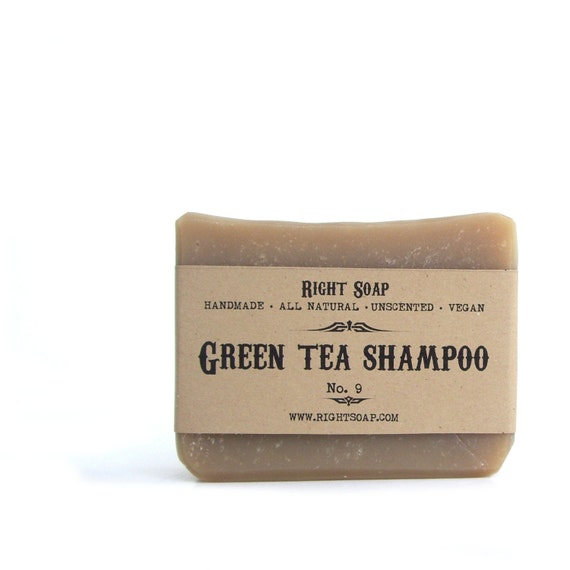 Shampoo Soap bar, Green Tea shampoo Soap, Handmade soap, natural shampoo Soap, All Natural Soap, Stocking Stuffers, Hostess Gift