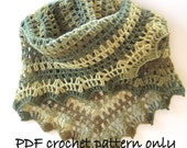 PDF crochet pattern. Photo tutorial. Crochet shawl. PDF instant download. Permission to sell items made from this pattern.