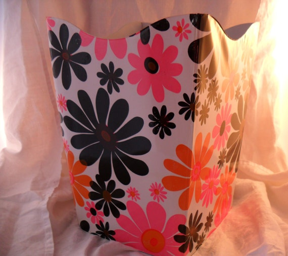 Retro folding waste basket made by debutante products vinyl - Collapsible waste basket ...