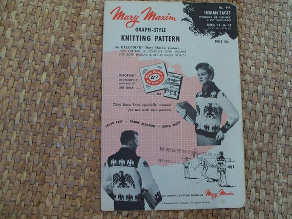 Mary Maxim Graph Style Knitting Pattern Indian by PolishHenParty