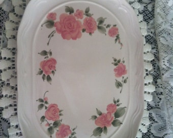 Scalloped Rose Gibson platter