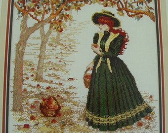 Cross Stitch Pattern - Cross My Heart - Fall Maiden by Melinda