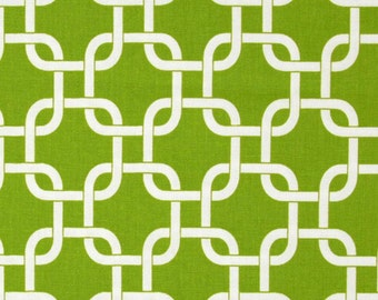 "GreenTable Runner-Green Wedding Table Runner.  Green  and White Gotcha/Chainlink Table Cloth- 12"" x 60"",12 x 72"""