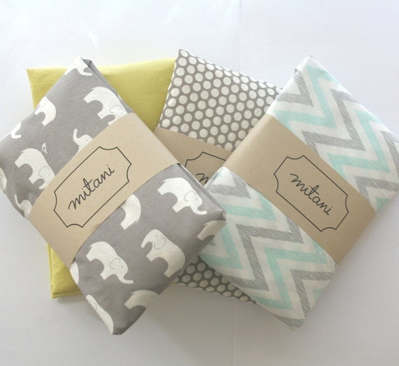 Organic Cotton Crib Fitted Sheet For Boys Girls Or Neutral