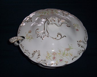 """Victorian Soup Toureen - """"Perfect"""" Pattern - Dresden Pottery Co., Liverpool, Ohio"""