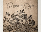 Roses in Sepia II Etsy Shop Banner Set