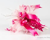 Pink and White Ribbon Bouquet  'Throw Bowquet'