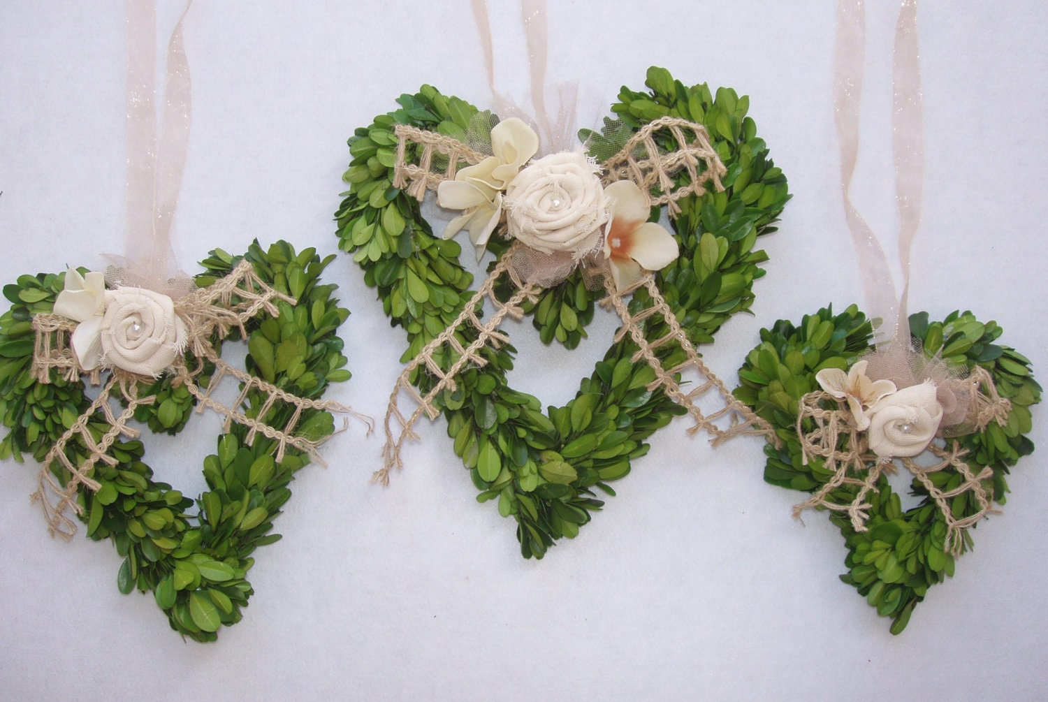 Preserved boxwood wreaths heart shaped boxwood by naturepreserved