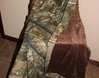 """Minky realtree camo blanket 40x36"""""""