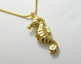 Seahorse necklace seahorse in a bottle pendant seahorse gold seahorse necklace gold seahorse pendant seahorse charm necklace mozeypictures Images