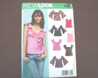 6-16 Angel Bell Sleeve Baby Doll Top Tank PATTERN New Look 6408 uncut