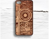 iPhone 6S Case, iPhone 6S Plus Case Wood Print, iPhone 5s Case Floral Camera, iPhone 6 Case, Geometric iPhone Case, Camera iPhone Cover  N17