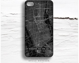 iPhone 6S Case, iPhone 5C Case NYC Map, iPhone 5s Case Chalk Board, New York iPhone 6 Case, iPhone 6S Plus Case, Vintage iPhone Cover V21