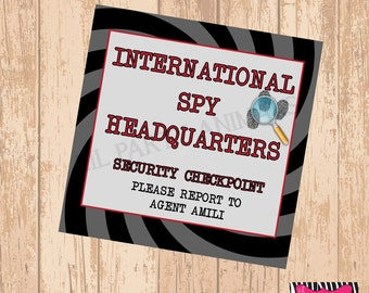 DIY Printable Spy Party Welcome Sign