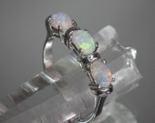 Absolutely lovely Crystal Opal in a solid Sterling Silver ring