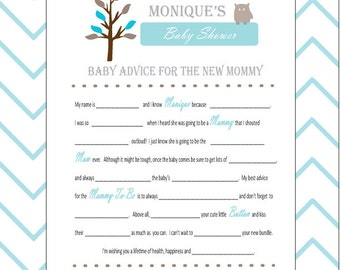 Baby Shower Mad Libs And Wishes For The Mom To Be  Woodland Animal Creatures