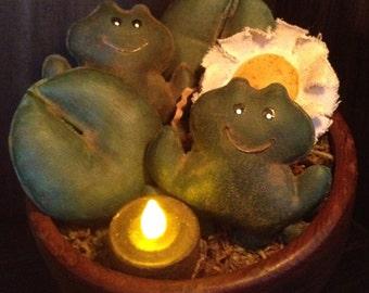 Primitive Frogs Bowl Fillers
