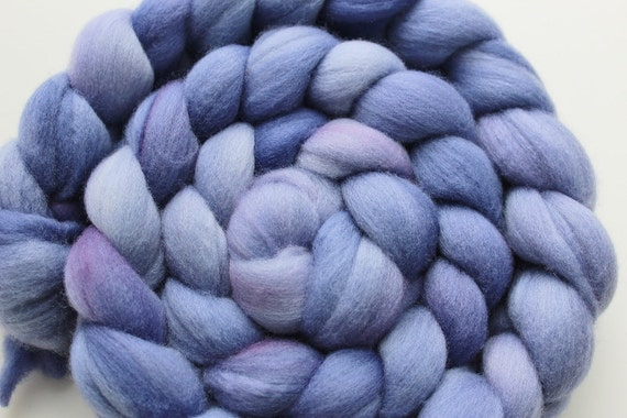Merino Top Roving AFRICAN VIOLET Hand dyed 4 ounces
