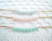 New: Czech Glass Beads Minimal Gold Bracelet