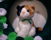 St Patrick's Wreath, Calico Cat 100% to Benefit Animal Rescue FREE Shipping