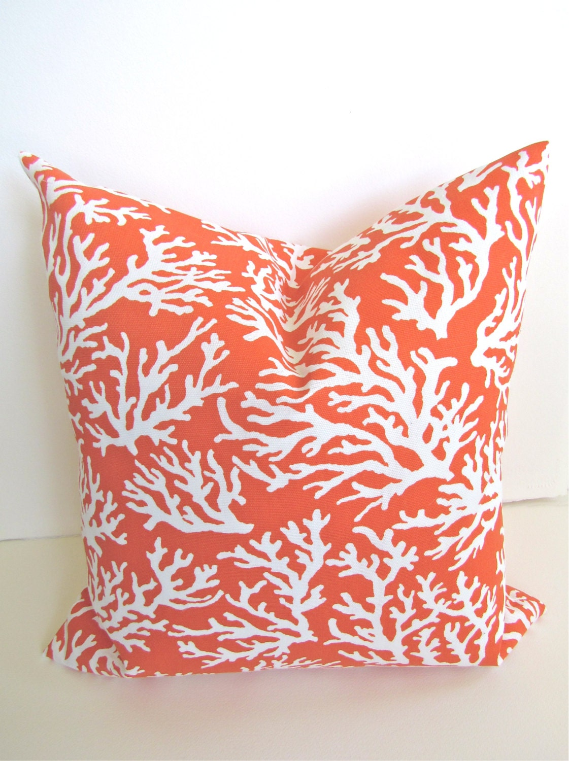 ORANGE Throw Pillows CORAL Outdoor Pillow Covers Orange Throw