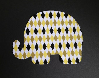 Iron-On  Elephant Applique - Diamonds