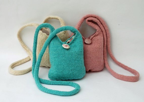 Knitting Kit - make a Small Bag with a long handle