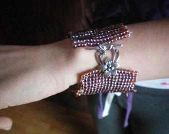 Large hand-woven bracelet
