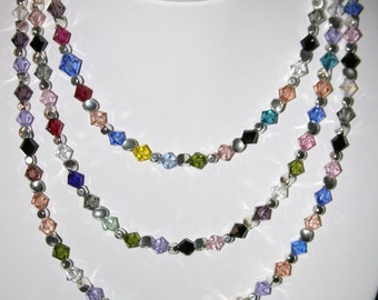 52  inch Swarovski Necklace with secure clasp
