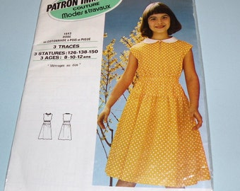 Paris PATRON IMMEDIAT Couture Girls dress pattern ages 8 to 12 Unopened Envelope