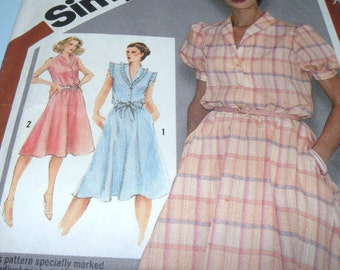 1980 Simplicity 9867 Size 14 Summer Dress UNCUT