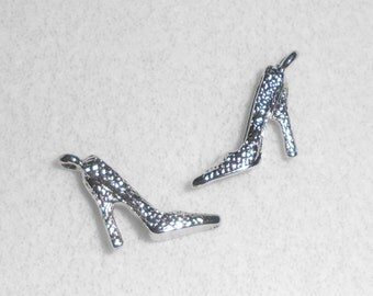 Silver Shoes Charms