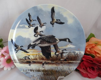 1986 Donald Pentz Wings Upon The Wind Collector Plate Limited Edition - The Landing