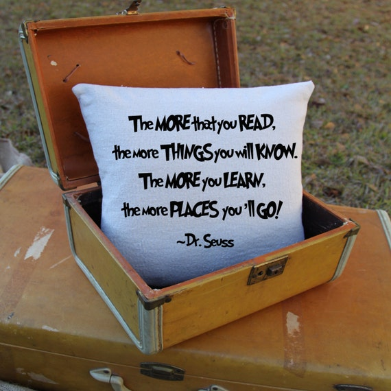 Dr. Seuss: Oh the Places You'll Go Pillow - Encourage Reading